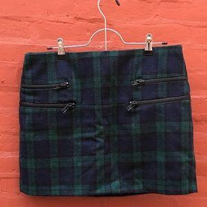 W118 Walter Baker Samara Plaid Wool Mini skirt